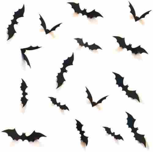 3D scary bats wall stickers halloween decorations design