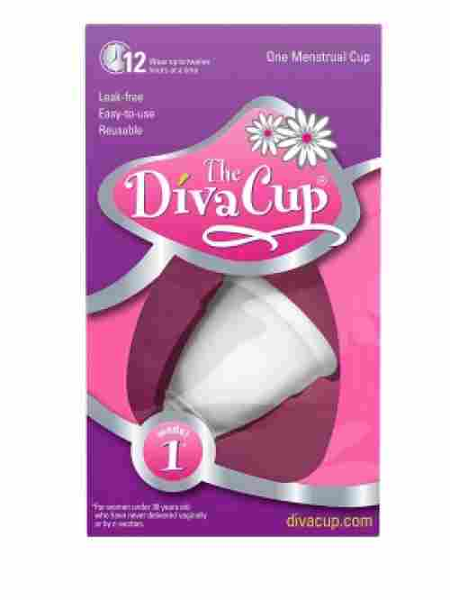 diva model 1 menstrual cup package
