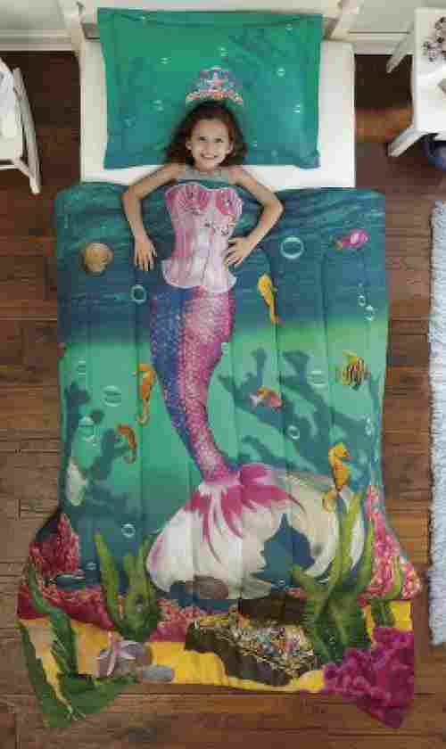dream big kids' bedding sea princess microfiber