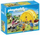 playmobil family camping trip box