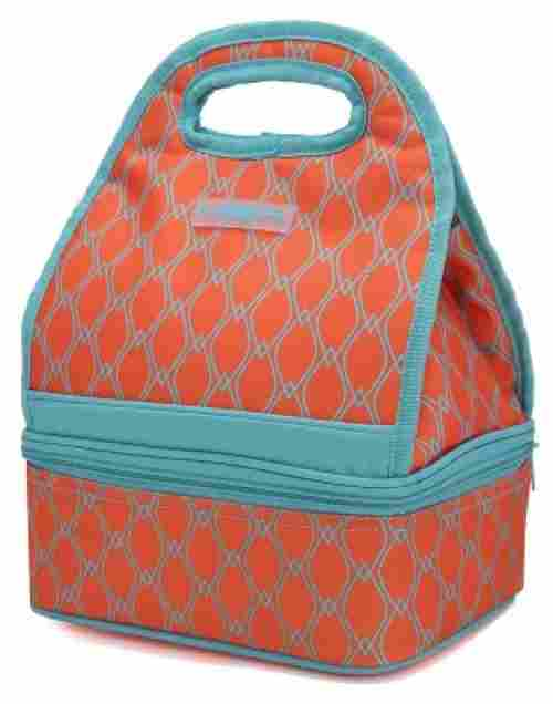 MIER Dual Compartment Insulated Lunch Box