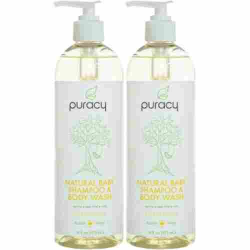 puracy natural tear-free 2 pack baby wash for eczema display