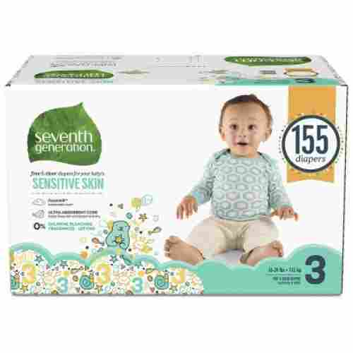 seventh generation biodegradable diapers free and clear