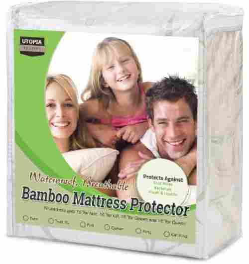 utopia bamboo mattress protector for kids waterproof