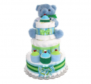 3 Tier - Blue Teddy Bear for Boy diaper cake for boys