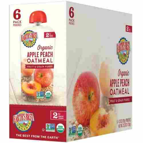 earth's best baby food pouch organic