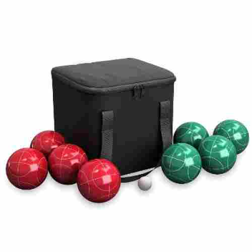 hey play bocce ball outdoor game balls