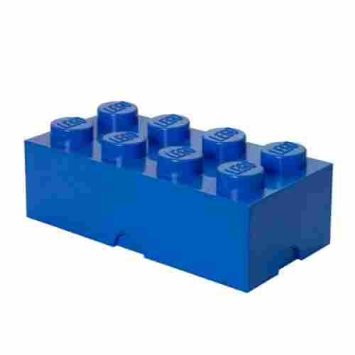 lego storage container brick 8 bright blue