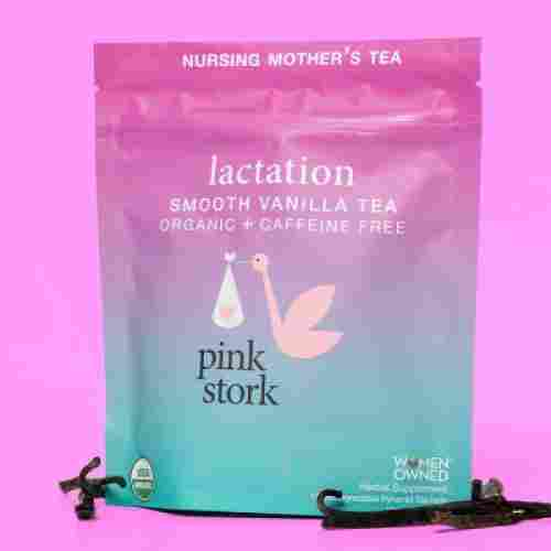 pink stork smooth vanilla lactation tea non-gmo