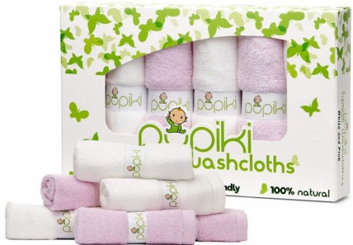 pupiki baby washcloths pink