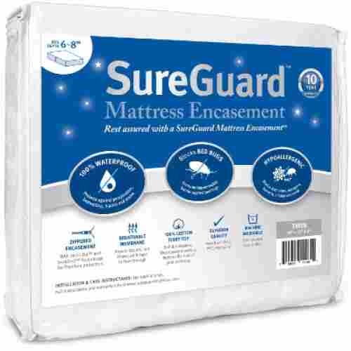 sureguard twin mattress protector for kids hypoallergenic