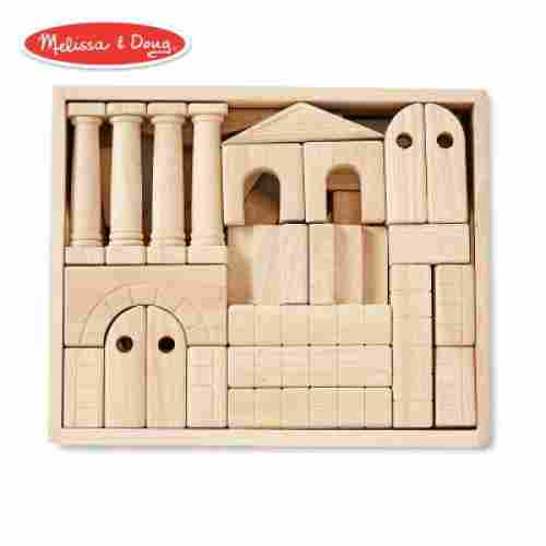 architectural wooden unit block set toys that start with a