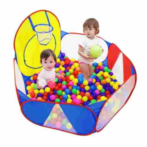 ball pit with basketball hoop toys that start with b