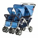 childcraft sport quad triplet stroller blue