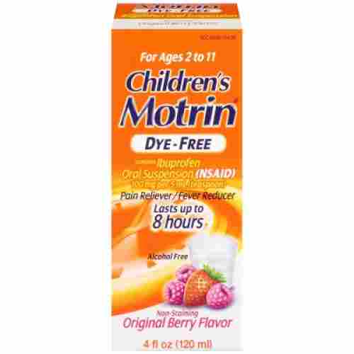 Children's Motrin Oral Suspension Dye-Free Berry