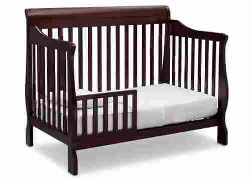 delta children canton 4-in-1 convertible crib brown