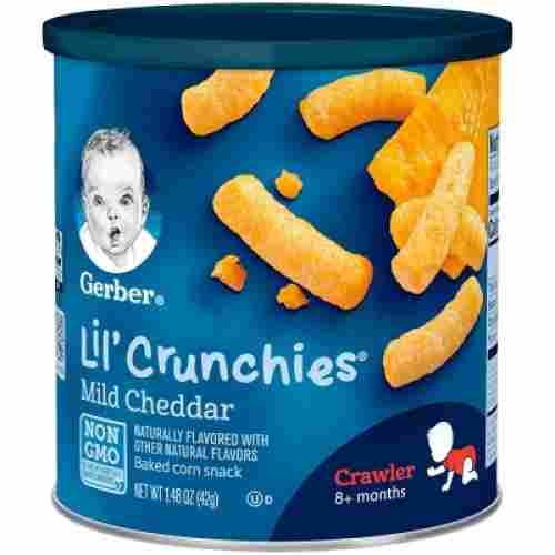 Gerber Lil Crunchies organic snacks for kids