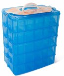 lifeSmart stackable 50 compartments lego storage container display