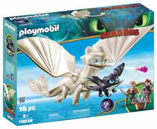 PLAYMOBIL Light Fury how to train your dragon toys