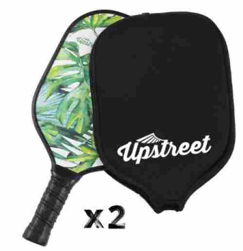 upstreet pickleball paddles outdoor game set of two