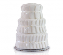 Decorate It Yourself 3 Tier Plain baby diaper cake