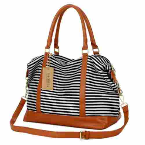baosha HB-28 canvas weekender hospital bag stripes