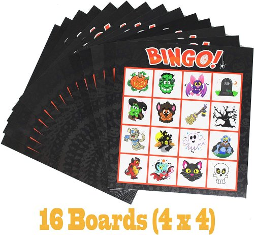 bingo cards halloween game 16 boards