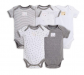 Burt's Bees Girls' 5-Pack Solid Bodysuit