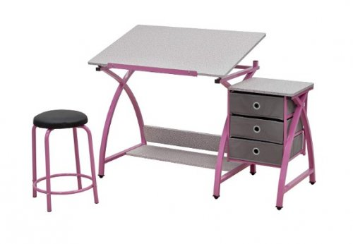 comet center kids desk pink
