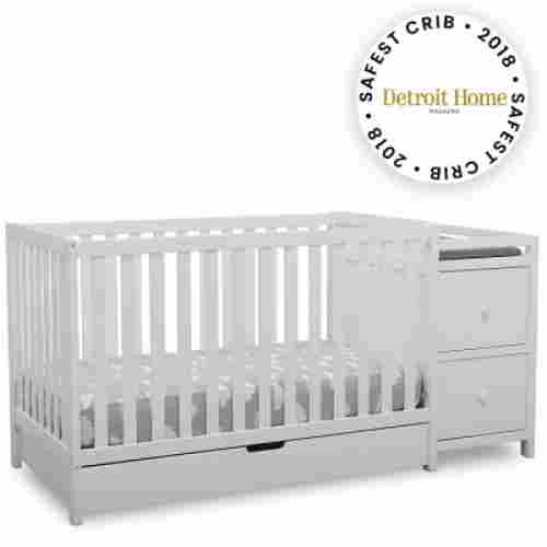 delta children heartland crib with changing table safe