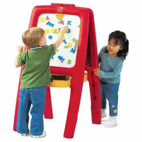 step2 toy easel for two magnetic double-sided