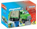 playmobil green recycling truck box