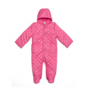 leveret quilted baby snowsuit pink