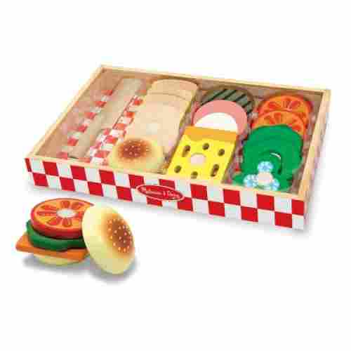 Wooden Sandwich-Making Set play food set