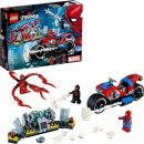 marvel lego set spider-man bike rescue box and parts