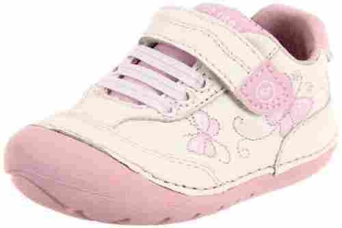stride rite bambi baby walking shoes pink