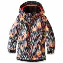 686 girl's floral insulated kids ski jacket pattern