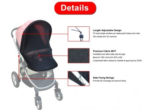bayan net-nice stroller cover details
