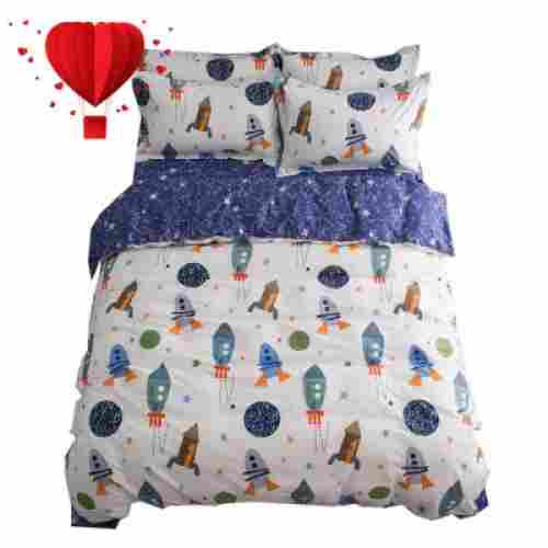 buLuTu space rocket kids bedding design