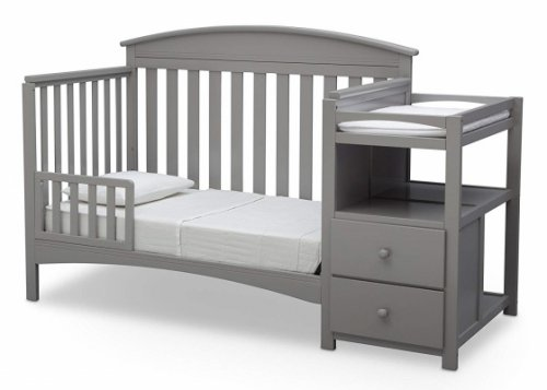 delta children abby crib with changing table guardrail