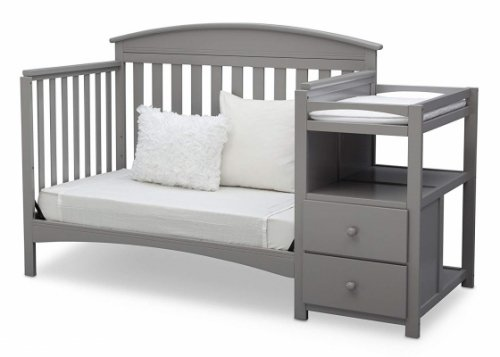 delta children abby crib with changing table convertible