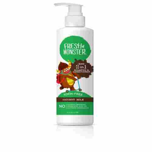 fresh monster coconut 2-in-1 shampoo for kids and babies