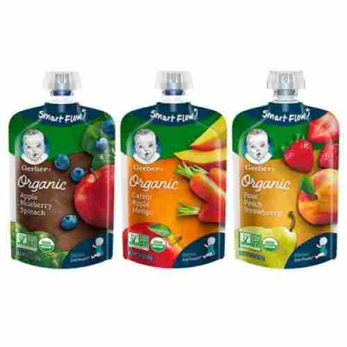 gerber organic baby food pouch flavors
