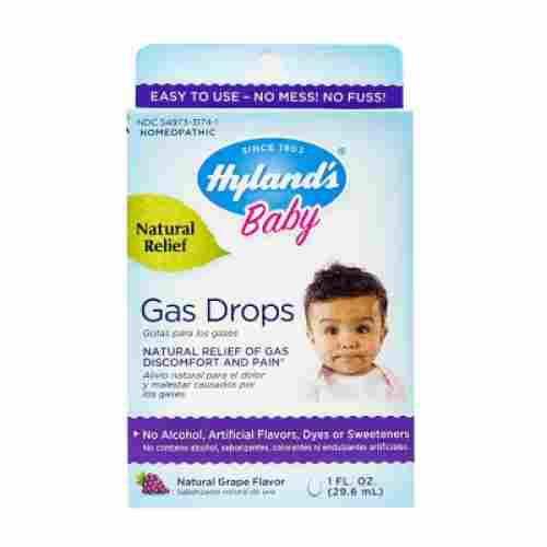 hyland's homeopathic grape baby gas drops natural