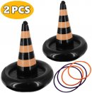 inflatable witch hat ring toss halloween game 2 pieces