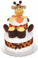 2 Tier Mini with Giraffe best diaper cake