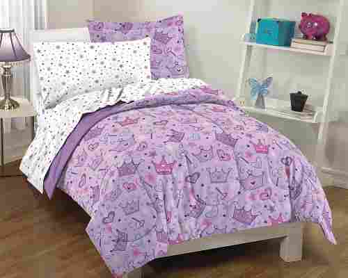 dream factory purple princess hearts kids bedding design