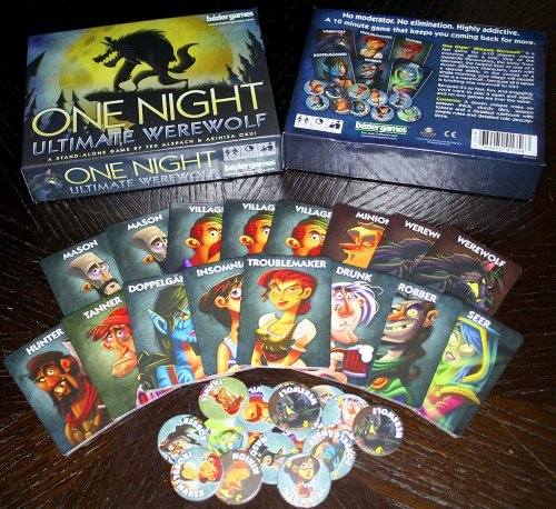 one night ultimate werewolf halloween game set