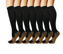 7-Pack Copper Knee High maternity compression socks