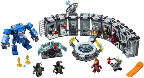 lego marvel avengers iron man hall of armor parts